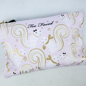 Too Faced Squirrel Make Up Bag NWT